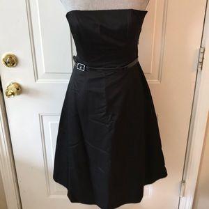 Banana Republic Womens Black Strapless Dress